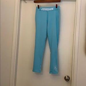 Jordan light blue workout leggings